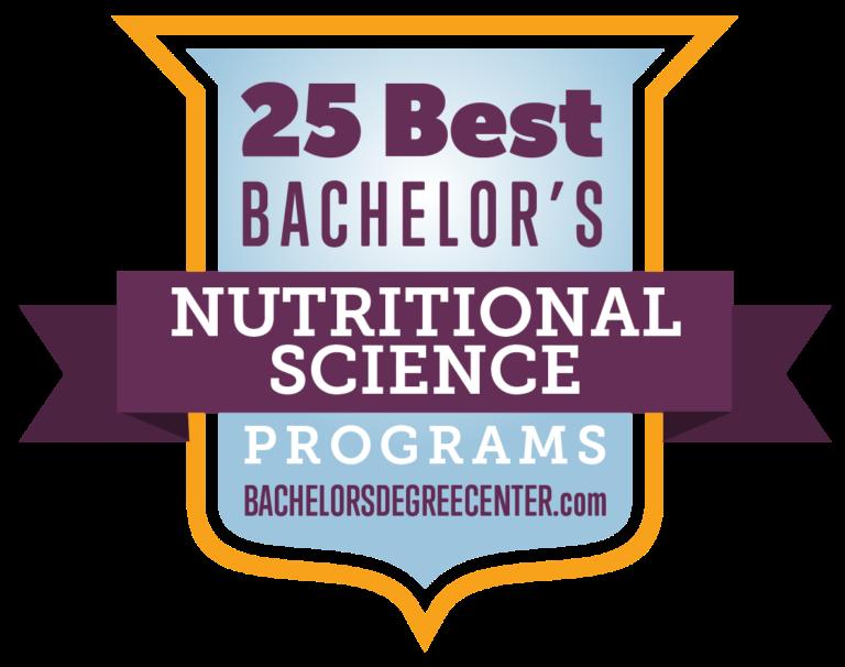25 Best Bachelor's Nutritional Science Programs rankings badge by BachelorsDegreeCenter.com